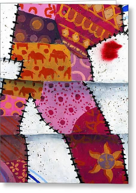 Holy Land Art Greeting Cards - Pieces Greeting Card by Munir Alawi