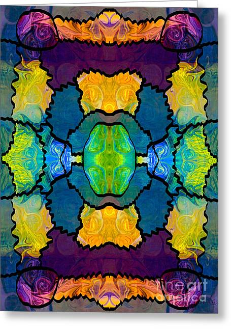 Organic Tapestries - Textiles Greeting Cards - Pieces Of The Puzzle Organic Bliss Designs Greeting Card by Omaste Witkowski