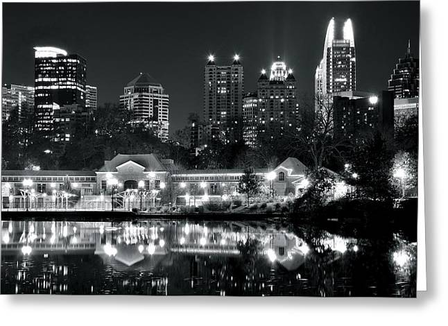 Hank Aaron Greeting Cards - Piedmont Park View Greeting Card by Frozen in Time Fine Art Photography