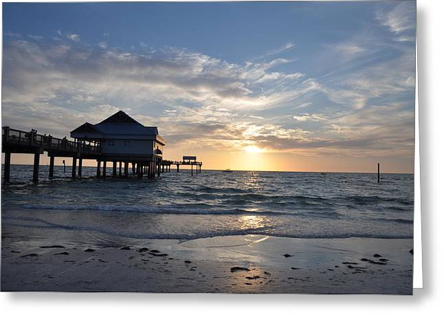 Pier Digital Greeting Cards - Pier 60 at Clearwater Beach Florida Greeting Card by Bill Cannon