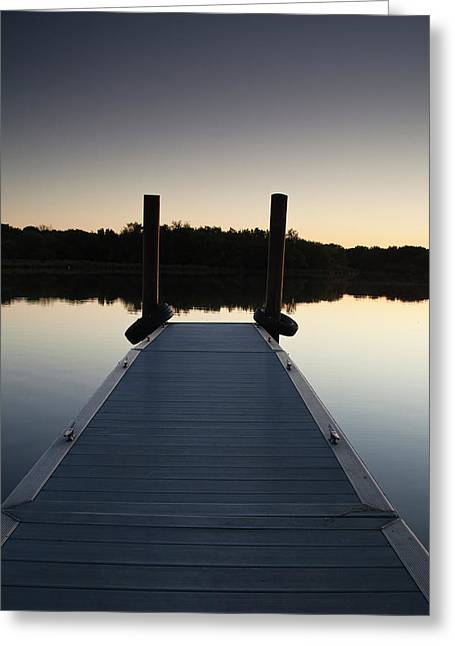 Wood Pier Greeting Cards - Pier at Twilight Greeting Card by Andrew Soundarajan