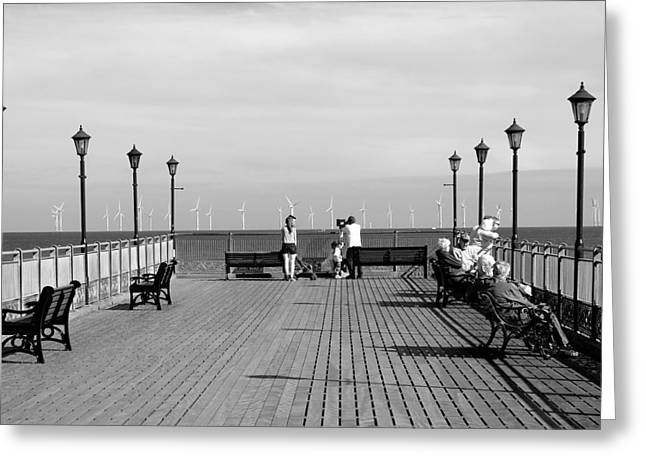 Pier End View At Skegness Greeting Card by Rod Johnson