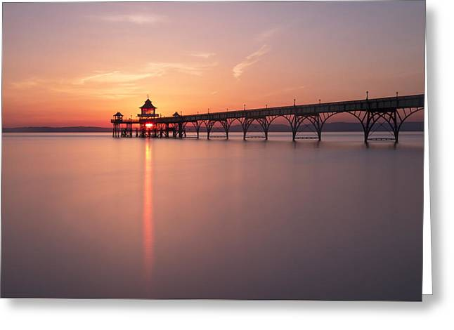 Pier Flare Greeting Card by Anthony Mitchell