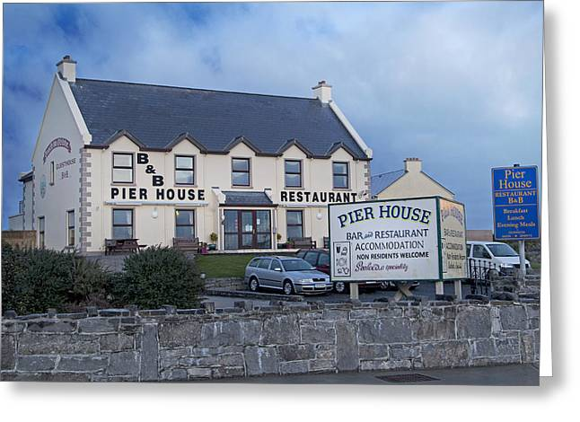 Aran Islands Greeting Cards - Pier House Restaurant Aran Islands Greeting Card by Betsy C  Knapp