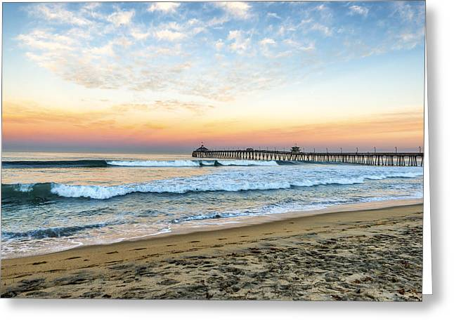S. California Greeting Cards - Pier Morning II Greeting Card by Joseph S Giacalone