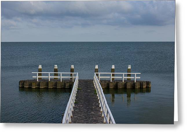 Fishing Creek Greeting Cards - Pier Greeting Card by Paolo Broggi