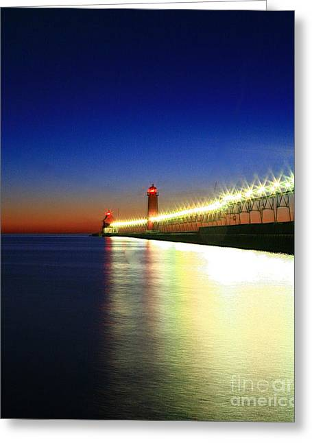 Beach Photograph Greeting Cards - Pier reflection Greeting Card by Robert Pearson