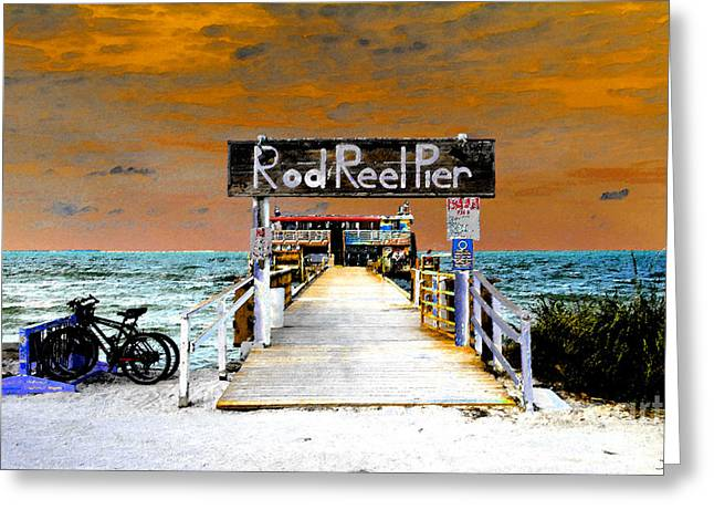 Anna Maria Island Greeting Cards - Pier scape Greeting Card by David Lee Thompson