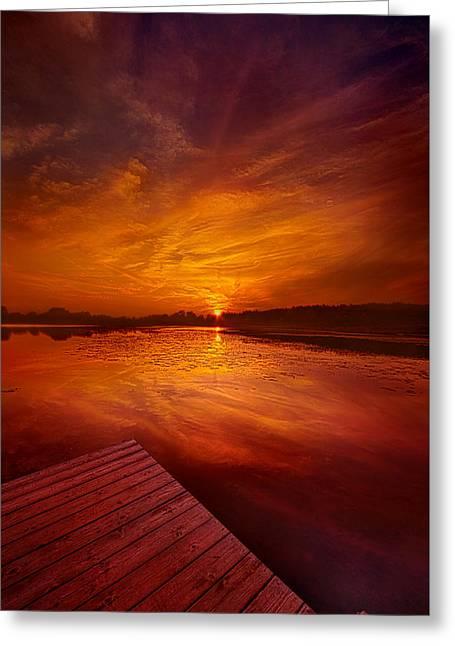 Pier Sittin Greeting Card by Phil Koch
