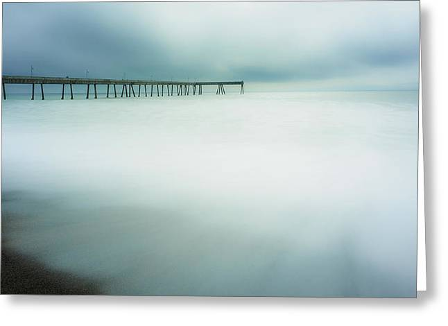 Hwy 1 Greeting Cards - Pier Greeting Card by Steve Spiliotopoulos