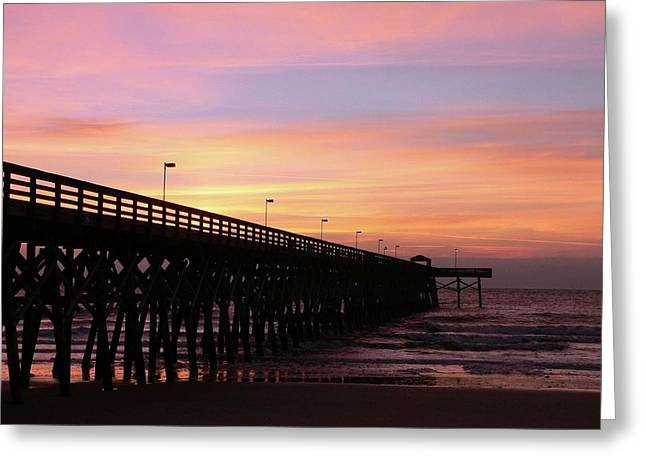 Al Powell Photography Usa Greeting Cards - Pier Sunrise Greeting Card by Al Powell Photography USA