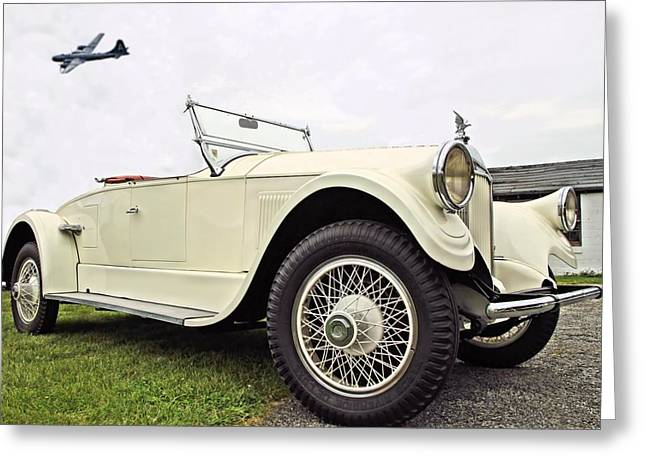 Old Relics Greeting Cards - Pierce Arrow Greeting Card by DJ Florek