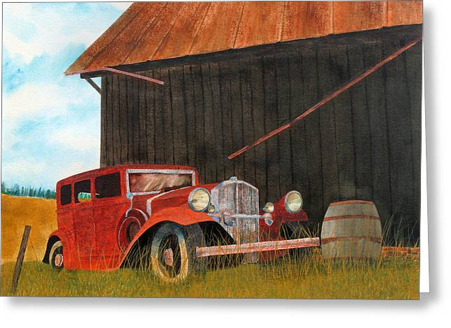 Rusted Cars Greeting Cards - Pierce-Arrow Greeting Card by Marcus Jones
