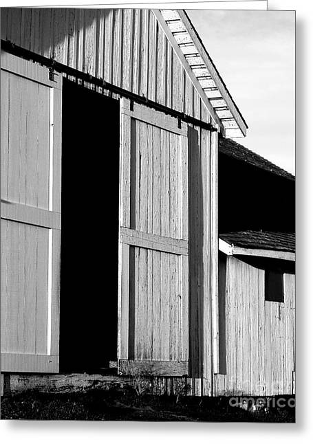 Pierce Point Ranch 16 . Bw Greeting Card by Wingsdomain Art and Photography