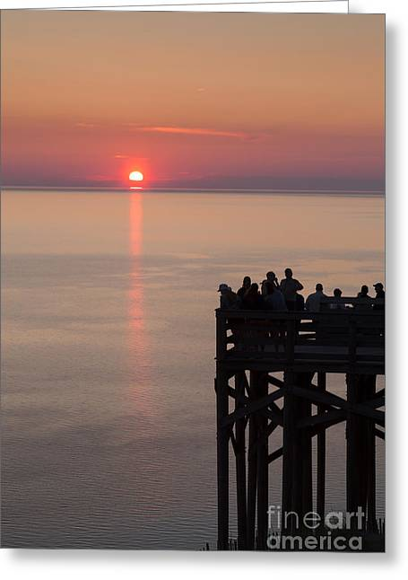 Scenic Drive Greeting Cards - Pierce Stocking Overlook Sunset Greeting Card by Twenty Two North Photography