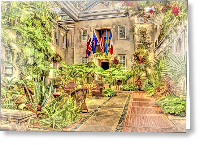 Landscape Posters Greeting Cards - Pierre Du Pont Home Longwood Gardens Greeting Card by Geraldine Scull