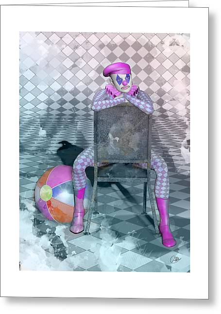 Comedian Digital Greeting Cards - Pierrette watercolor  Greeting Card by Quim Abella