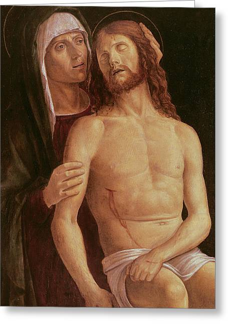Pieta Greeting Card by Gentile Bellini