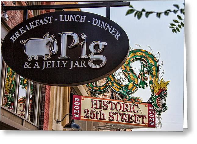 Historic Home Greeting Cards - Pig And Dragon Sign Greeting Card by Nick Gray
