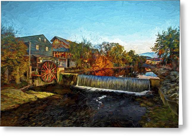 Unique Art Greeting Cards - Pigeon Forge Old Mill Greeting Card by Dave Bosse