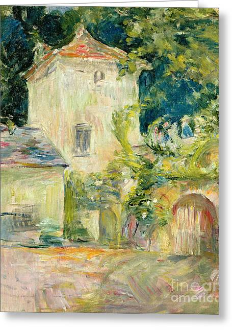 Berthe (1841-95) Greeting Cards - Pigeon Loft at the Chateau du Mesnil Greeting Card by Berthe Morisot
