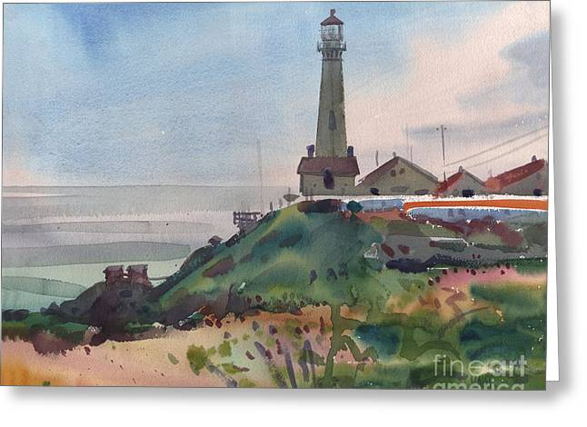 California Lighthouse Greeting Cards - Pigeon Point Greeting Card by Donald Maier