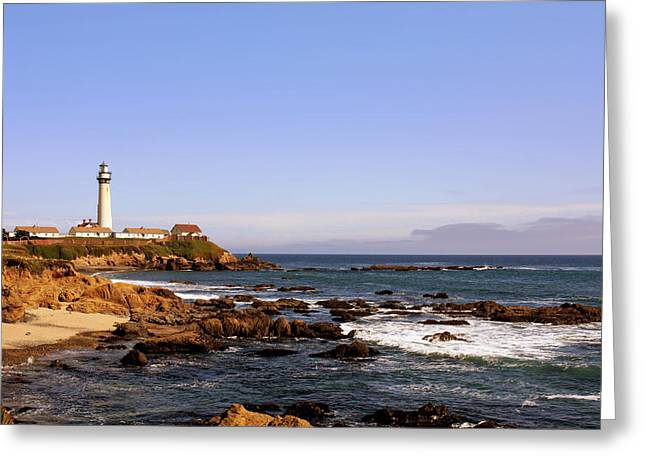 Old Buildings Greeting Cards - Pigeon Point Lighthouse CA Greeting Card by Christine Till