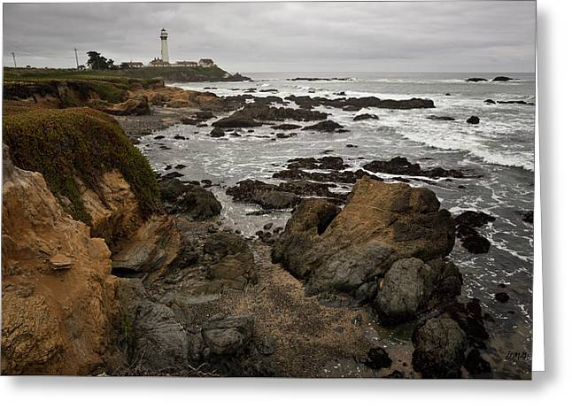 Chromatic Greeting Cards - Pigeon Point Lighthouse I Greeting Card by David Gordon