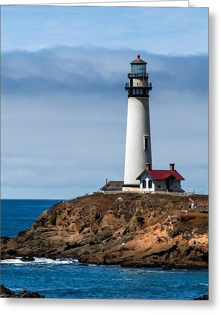 Coast Hwy Ca Greeting Cards - Pigeon Point Lighthouse Greeting Card by Jan and Burt Williams