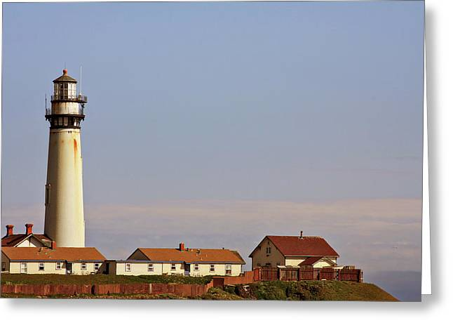 Pigeon Point Light Station Greeting Cards - Pigeon Point Lighthouse on Californias Pacific Coast Greeting Card by Christine Till