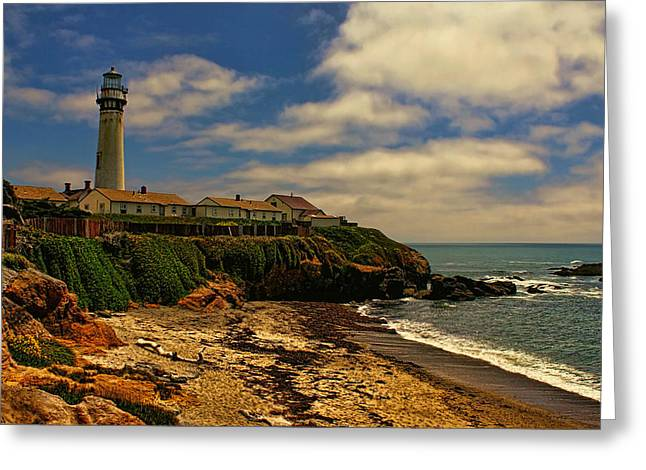 California Ocean Photography Greeting Cards - Pigeon Point Sunset Greeting Card by Judy Vincent