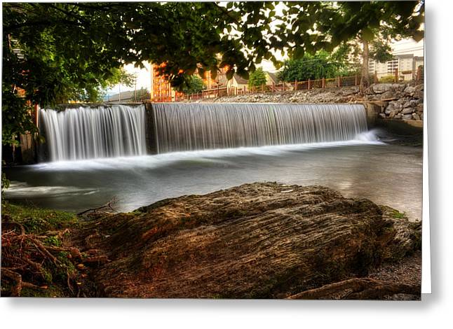 Tennessee River Greeting Cards - Pigeon River At Old Mill Greeting Card by Greg Mimbs