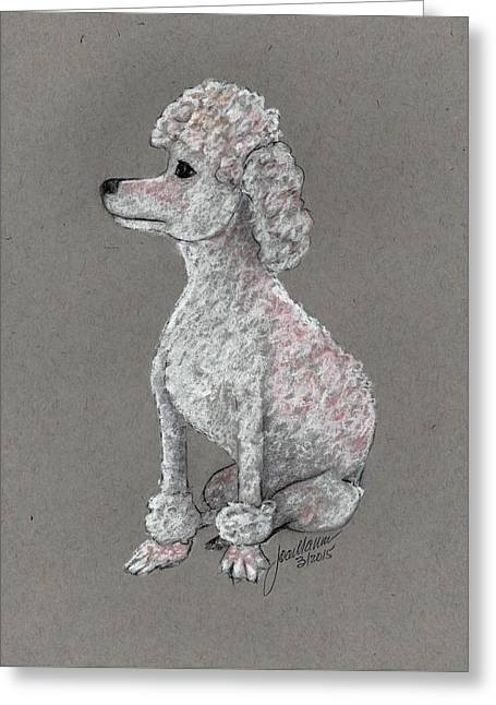 Toy Dog Greeting Cards - Pigge Greeting Card by Joan Mansson
