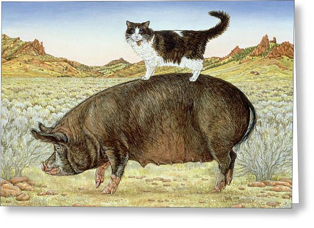 On Top Greeting Cards - Piggyback-Riding at Breteche Creek Greeting Card by Ditz