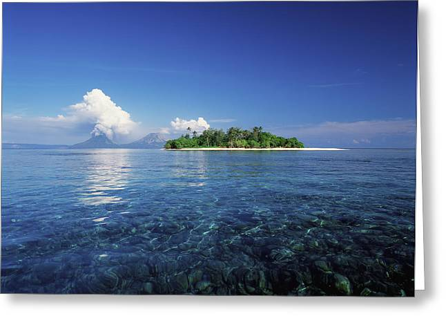 Trees Reflecting In Water Greeting Cards - Pigin Island, Rabaul Harbour  East New Greeting Card by David Kirkland