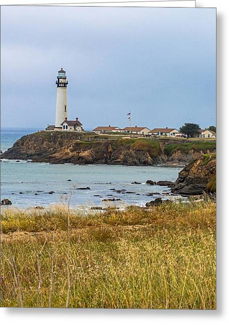 Coast Hwy Ca Greeting Cards - Pigion Point Light Station on PCH Greeting Card by Willie Harper