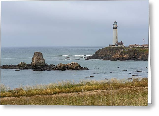 Coast Hwy Ca Greeting Cards - Pigion Point Lighthouse Greeting Card by Willie Harper