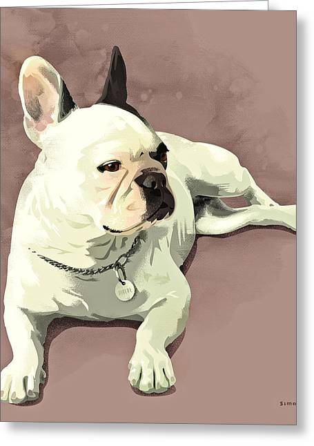 Dogs Digital Art Greeting Cards - Piglet Greeting Card by Simon Sturge