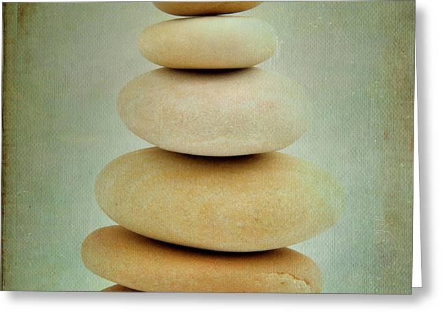 Pile of stones Greeting Card by BERNARD JAUBERT