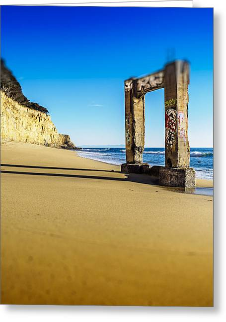 Santa Cruz Pier Greeting Cards - Piling Greeting Card by Steve Spiliotopoulos