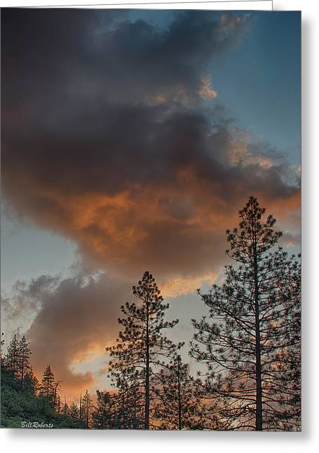 Pillar Of Fire Greeting Card by Bill Roberts
