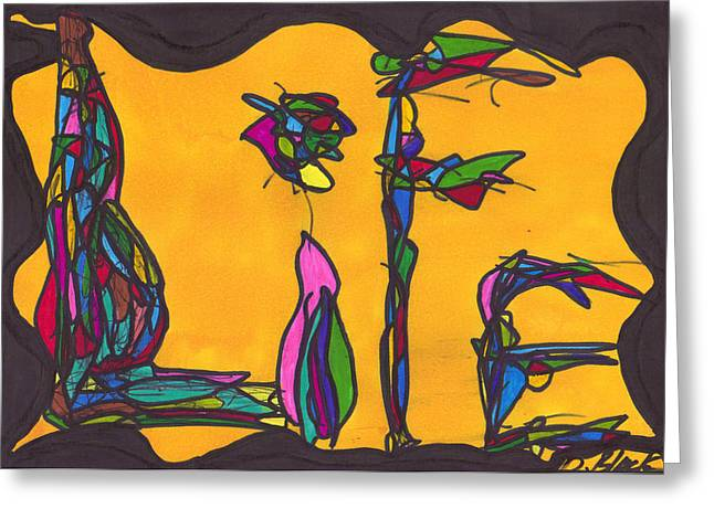Jacksonville Drawings Greeting Cards - Pillar of life Greeting Card by Darrell Black