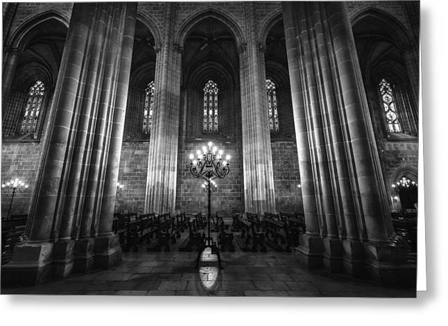 Candle Lit Greeting Cards - Pillars of History Greeting Card by Fred Gramoso