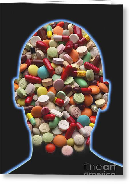 Addictive Drug Greeting Cards - Pills Greeting Card by George Mattei
