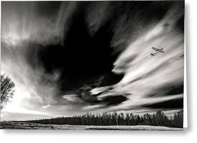 Pilot's Sky Greeting Card by Ron Day