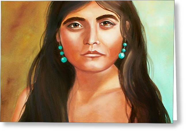 Pima Maiden Greeting Card by Joni McPherson