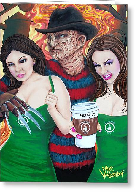 Tattoo Flash Greeting Cards - Pimp Freddy Greeting Card by Michael Vanderhoof