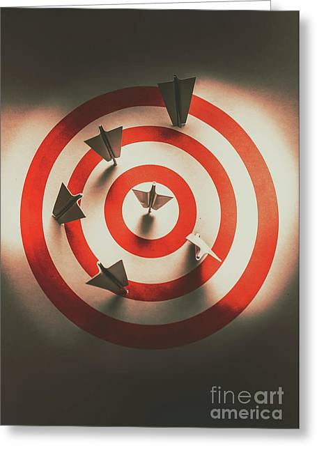 Pin Point Your Target Audience Greeting Card by Jorgo Photography - Wall Art Gallery
