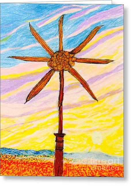 Pin Wheel  Greeting Card by Ishy Christine Degyansky