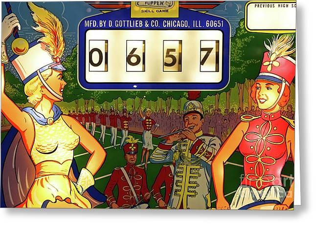 Pinball Art - Majorettes Greeting Card by Colleen Kammerer